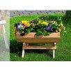 dCor design Rechteckig Blumenfass auf Ständer klein