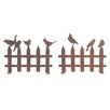 dCor design 2 Piece Bird on Fence Garden Stake Set