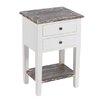 dCor design Nachttisch mit 2 Schubladen