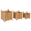 dCor design 3-Piece Square Planter Set