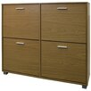 dCor design Extra Large 24 Pair Shoe Storage Cabinet