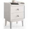dCor design Gandino 2 Drawer Bedside Table