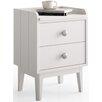 dCor design Gandino 2 Drawer Bedside Table
