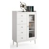 dCor design Gandino Display 1 Door 5 Drawer Cabinet