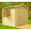 dCor design Roncade 7 x 7 Wooden Log Cabin