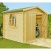 dCor design Rossano 7 x 7 Wooden Log Cabin