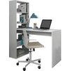 dCor design Phillip Writing Desk with Integrated Bookshelf