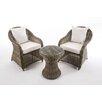 dCor design 3-tlg. Sitzgruppe-Set Bucine mit Kissen