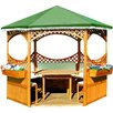 dCor design 308 cm rund Pavillon Palma mit grünem Foliendach