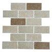 "Mulia Tile Classique 2"" x 4"" Porcelain Subway Tile in Beige and Ivory"