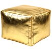 Casablanca Market Moroccan Leather Square Pouf Ottoman