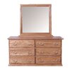 Forest Designs 6 Drawer Dresser with Mirror