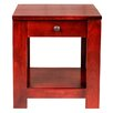 """Forest Designs 20"""" H Urban End Table with Black Knobs"""