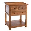 Urban Designs 3 Drawer Side Table