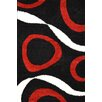 Urban Designs Classic Black/Red Area Rug