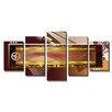 Urban Designs Abstract Forms 5 Piece Graphic Art on Canvas Set