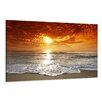 Urban Designs Beach Sea Photographic Print Wrapped on Canvas