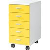 Urban Designs 5 Drawer Mobile File