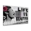 """Urban Designs Wandbild """"Life is - """" von Banksy"""