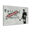 Urban Designs Banksy Follow Graphic Art on Canvas