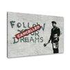 """Urban Designs Wandbild """"Follow"""" von Banksy, Grafikdruck"""