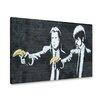 Urban Designs Banksy Banane Graphic Art on Canvas