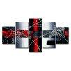 Urban Designs 5-tlg. 5-tlg. Leinwandbild-Set Abstrakt Grafische Kunst
