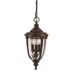 Energo English Bridle 3 Light Bowl Pendant