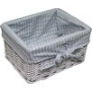 Wicker Valley Gingham Square Basket