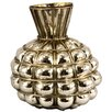 Castleton Home Distressed Round Blown Glass Vase