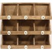 Castleton Home Rustic Wooden Storage Rack
