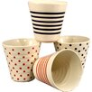 Castleton Home 4 Piece Assorted Ceramic Tumbler Set