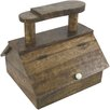 Castleton Home Rustic Wood Shoe Shine Box