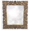 Castleton Home Wood Intricately Carved Wall Mirror