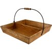Castleton Home 2 Compartment Wooden Tray