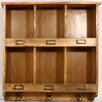 Castleton Home Rustic Wooden Storage / Letter Rack