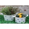 Castleton Home 2 Piece Round Planter Set