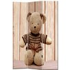 Castleton Home 137cm x 98cm Fluffy Toy 3 Panel Room Divider
