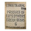 Castleton Home Cocoa Beans Vintage Advertisement on Canvas