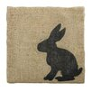 Castleton Home Rabbit Graphic Art on Canvas
