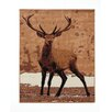 Castleton Home Cahors WILDLIFE Deer Beige Area Rug
