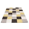 Castleton Home Frisée Yellow Check Area Rug