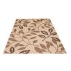 Castleton Home Desiree Leaves Natural Area Rug