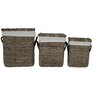 Castleton Home 3 Piece Rattan Laundry Basket Set