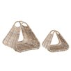 Castleton Home 2 Piece Log Basket Set