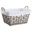Castleton Home Rattan Rectangle Lined Basket