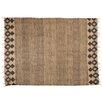 Castleton Home Handgefertigter Teppich in Braun