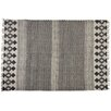 Castleton Home Handmade White/Black Area Rug
