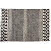 Castleton Home Handgefertigter Teppich in Schwarz/Weiß