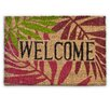 Castleton Home Welcome with Leaves Doormat